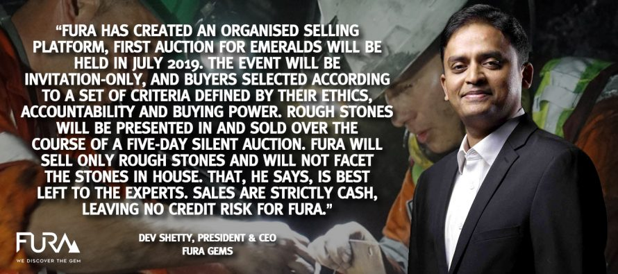 Fura Gems Has Created An Organised Selling Platform, First Auction for Emeralds Will be Held in July 2019