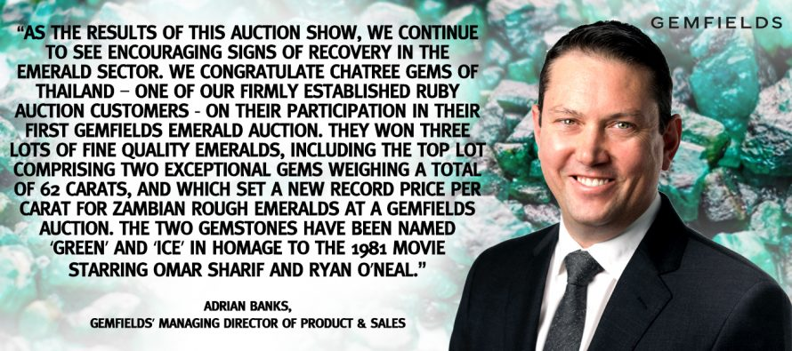 Gemfields Singapore Emerald Auction Results