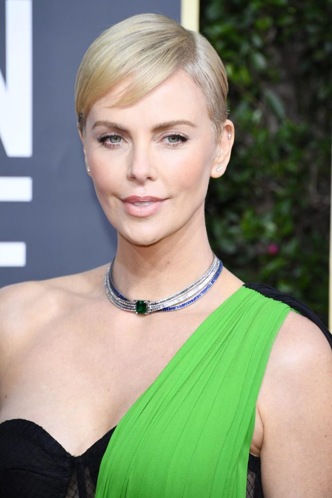 Charlize Theron in Platinum by Tiffany & Co.