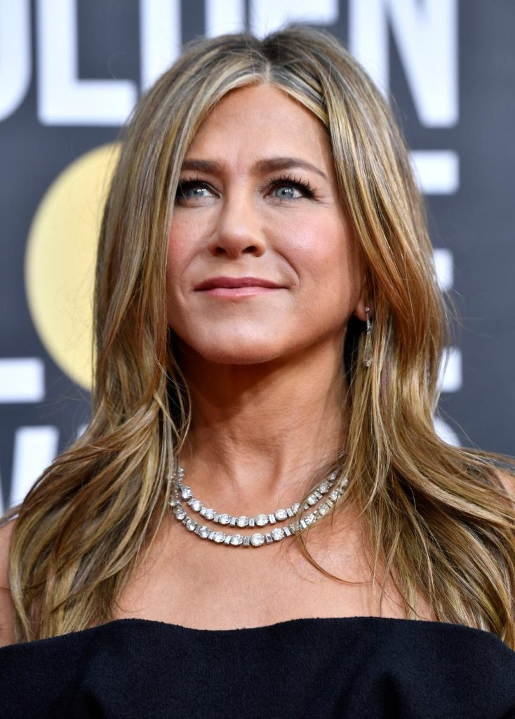 Jennifer Aniston in Platinum by Fred Leighton