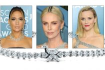 The 26th Annual Screen Actors Guild Awards featured celebrities wearing bold platinum jewelry designs